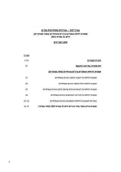 FINANCIAL REPORT Q1 2013 - Hebrew