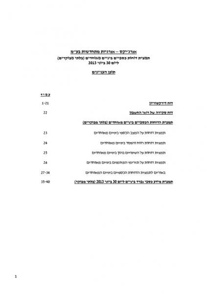 FINANCIAL REPORT Q2 2013 - Hebrew