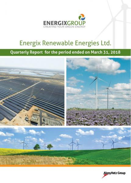 Energix- quarterly report- 31.3.18